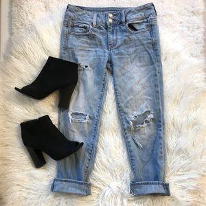 American Eagle Artist Crop Stretch Jeans
